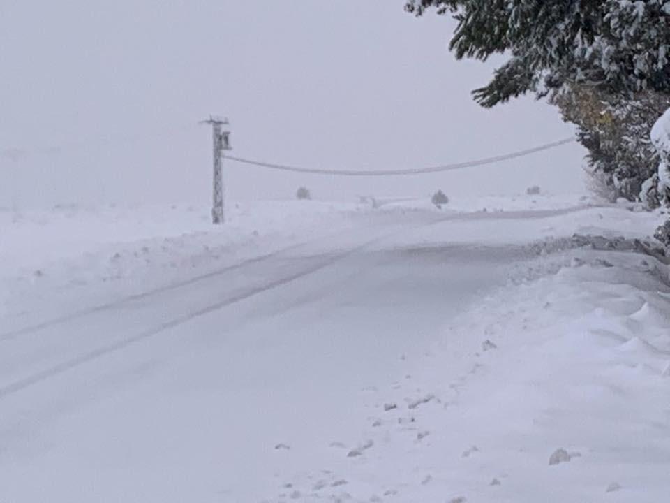 Nieve en El Sabinar, Moratalla