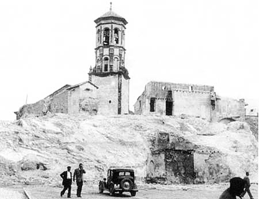 Demolición restos del Castillo de Cehegí