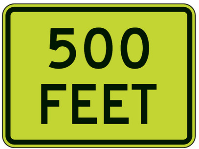Close 500(200) feet or number of clues?