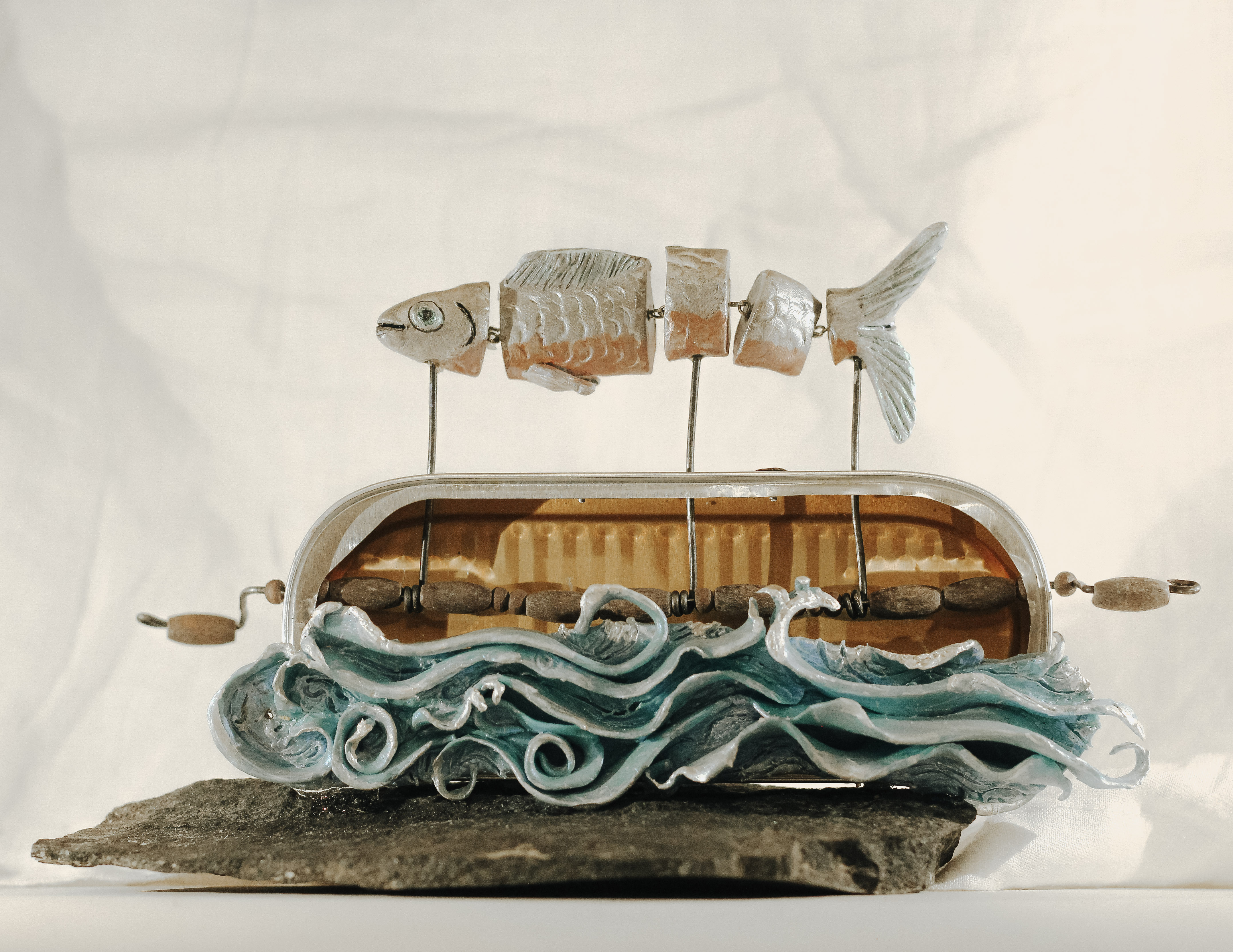 Out of School Kinetic Sculpture - Yvonne Musey Johnson (click link below to see in-action video)