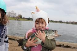 Kids fishing in Los Angeles
