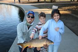 kids fishing in LA