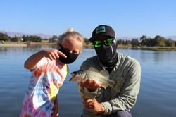 Earliy morning fishing in LA