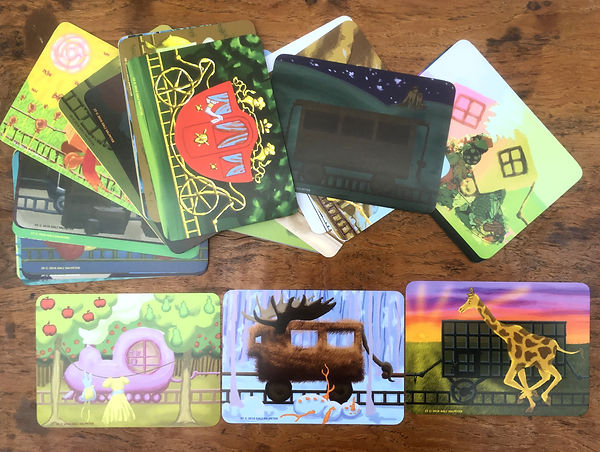 Trains-deck of projective cards and cont