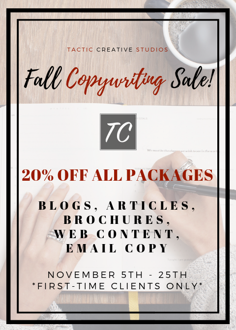 Tactic Creative Studios - Fall Copywriting Sale
