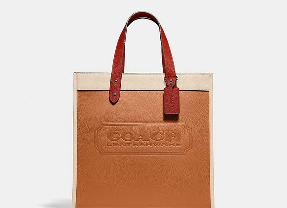 COACH FIELD TOTE IN COLORBLOCK WITH COACH BADGE