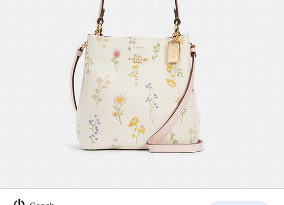 COACH TOWN BUCKET BAG WITH SPACED WILDFLOWER PRINT