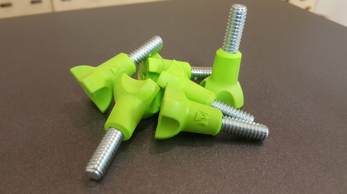 Overmolded bolts