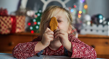 Girl with Gingerbread Man