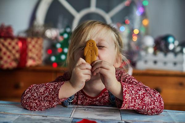 Jente med Gingerbread Man