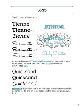 Junior Baby Hatter Brand Identity Guidel