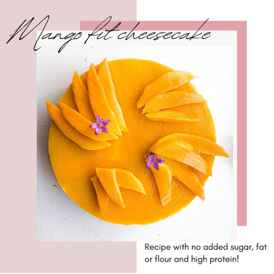 non-baked MANGO cheesecake (no added sugar, fat, flour, and high protein)