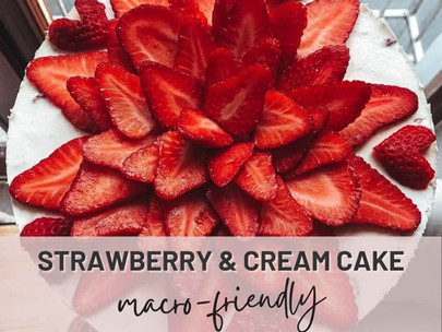 Light & Fresh Strawberry and Cream Dessert | Packed with Protein & Totally Macro-friendly!