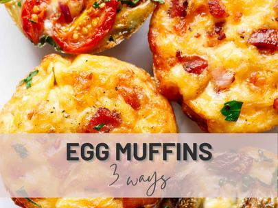 Breakfast's Egg Muffins 3 Ways | Fun Breakfast For Your Fitness Goals