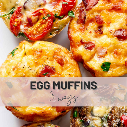 Breakfast's Egg Muffins 3 Ways   Fun Breakfast For Your Fitness Goals