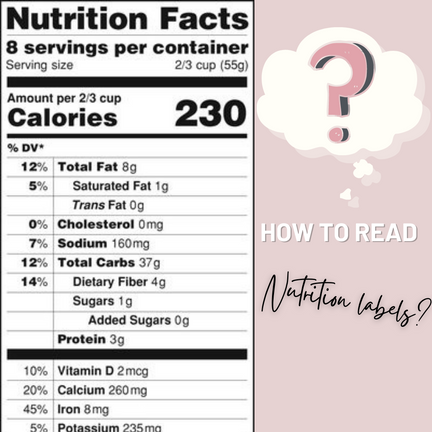 Nutrition Facts Labels   How to Read Them?