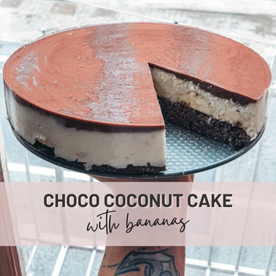 Choco Coconut Cake | Fitness Cake with No Sugar, Flour and Lots of Protein