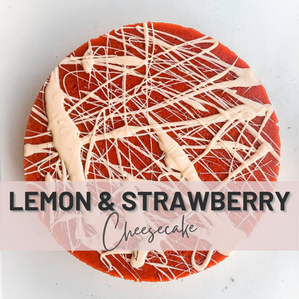 The Easiest non-Bake Lemon Cheesecake With Strawberries🍓🍋   Fitness Protein Version With No Sugar