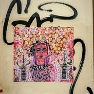 valkyrie et psychopompes, collage d'impr