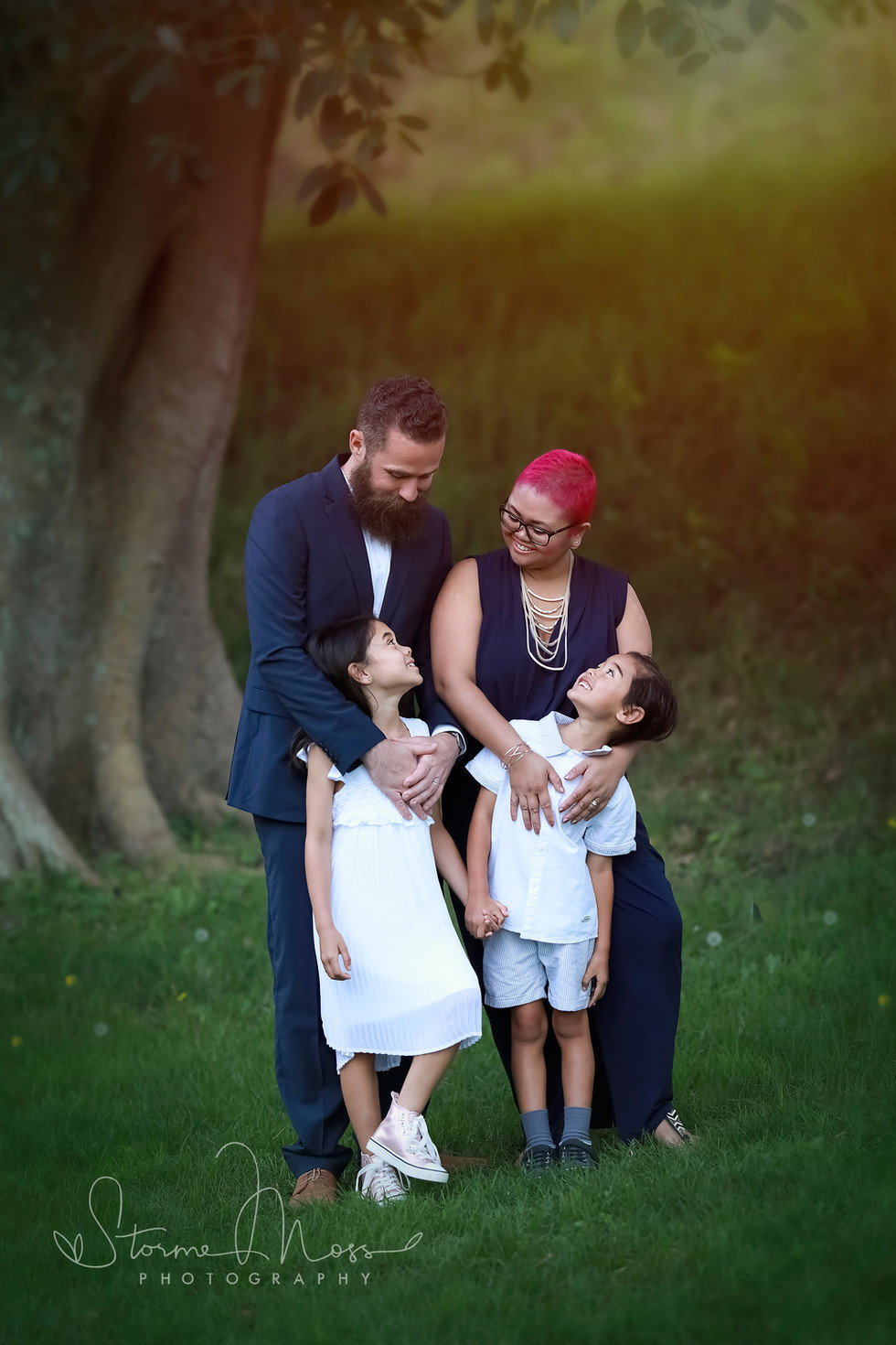 Family outdoors photography