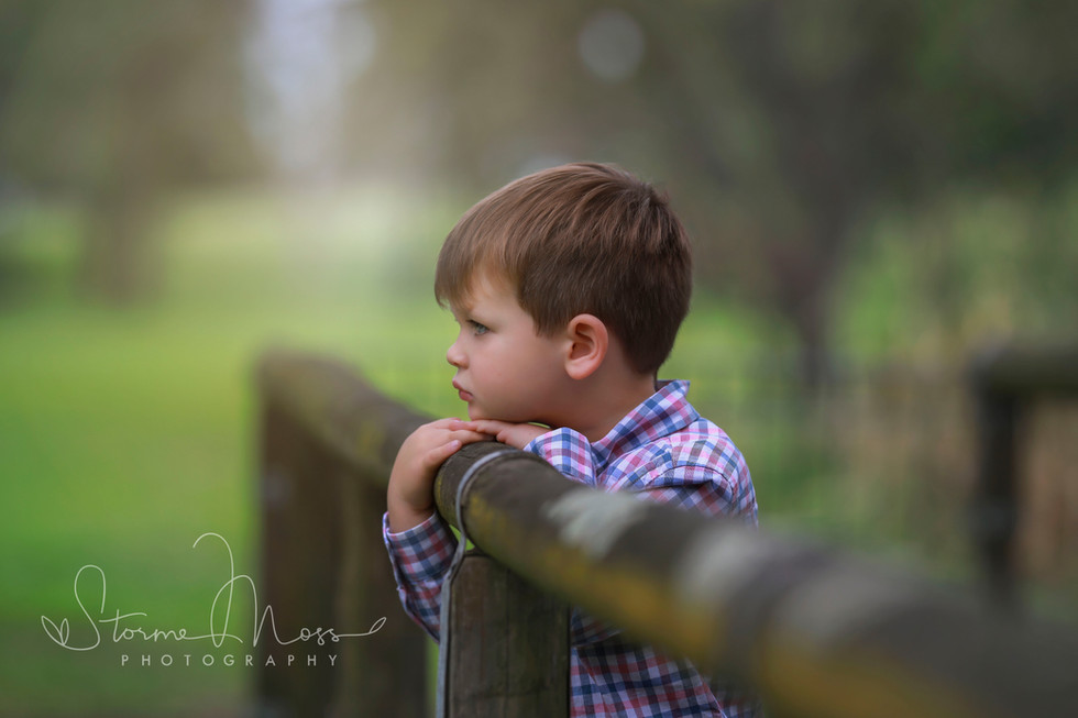 Boy looking out - outdoor photography sessions