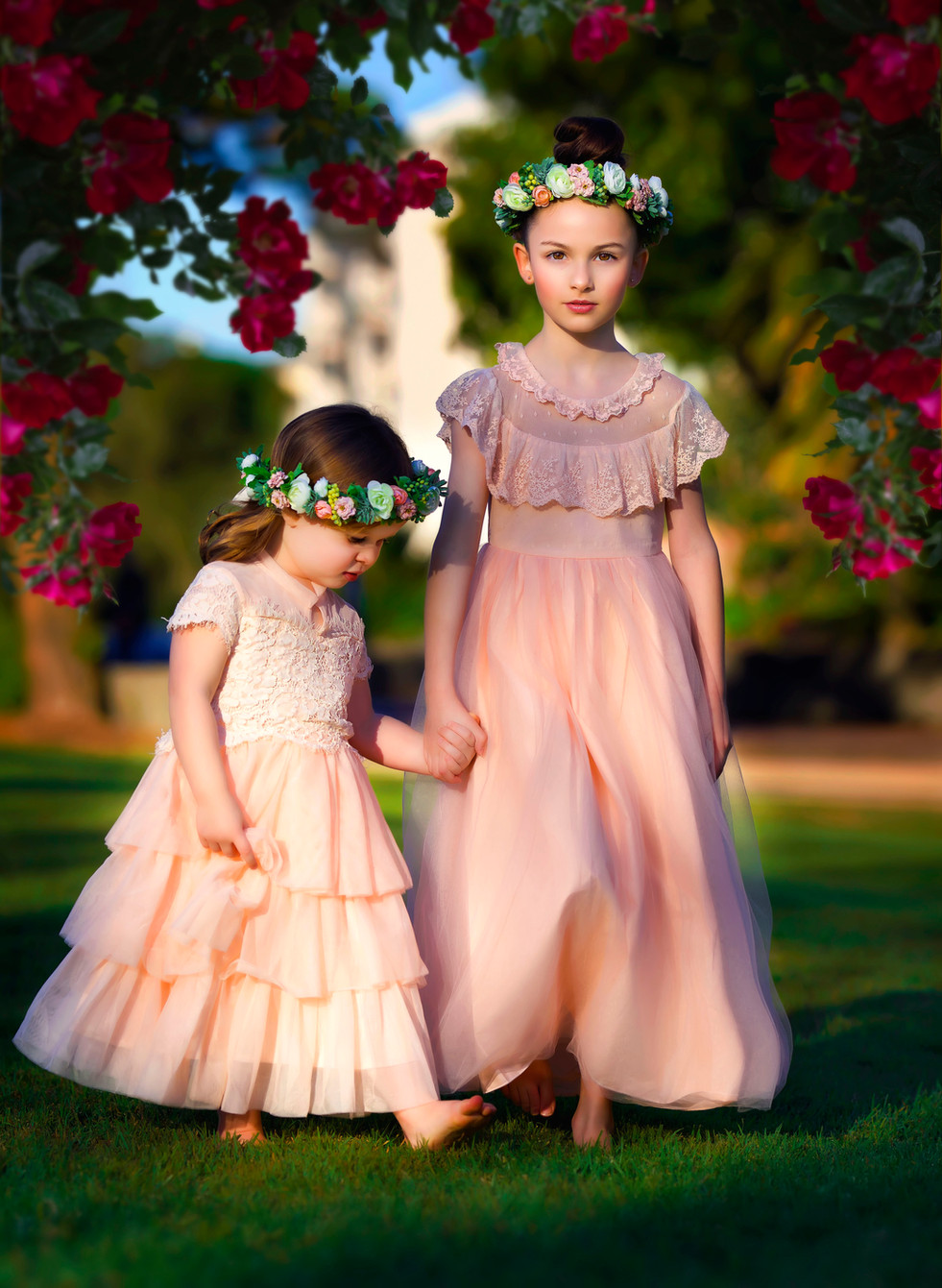 kids photoshoot in outdoor setting