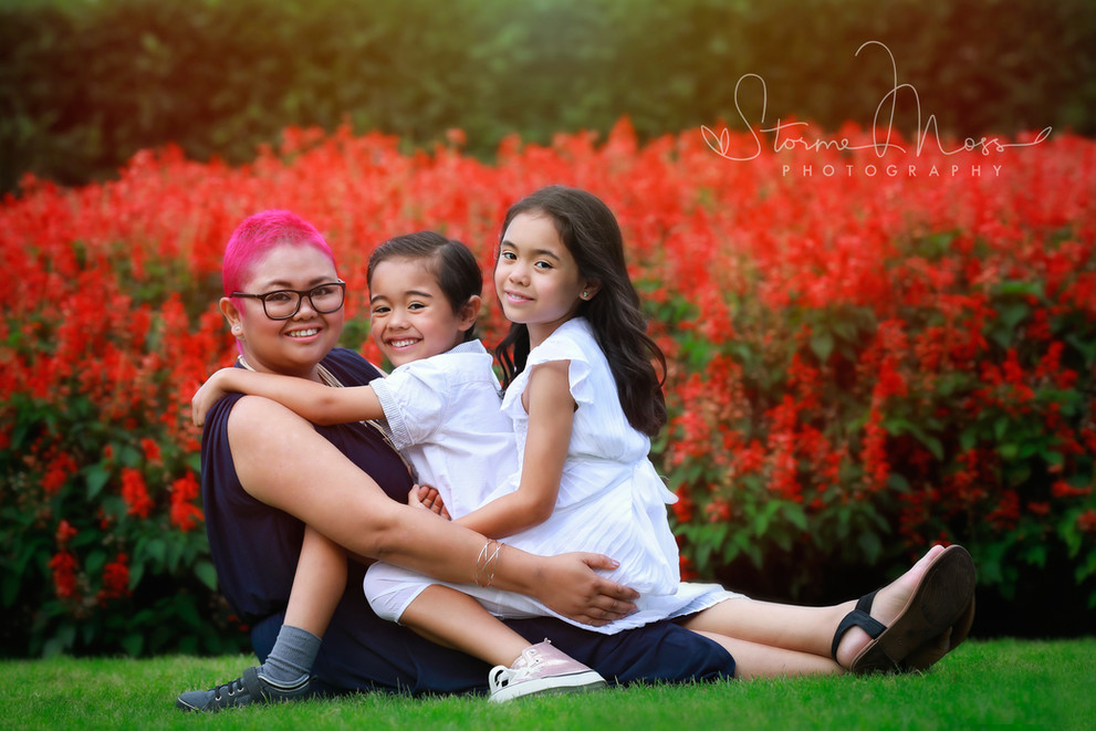 family photography newcastle outdoor location