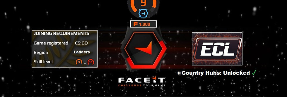 🎁 Faceit Level 9 | 1.40+ K/D | 1,000 Points | < 2 Hour Delivery