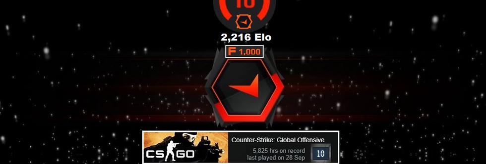 ⚡ 10' Faceit 2,216 Elo   5,825 Hours   1,500 Points   Verified   Instant Deliver