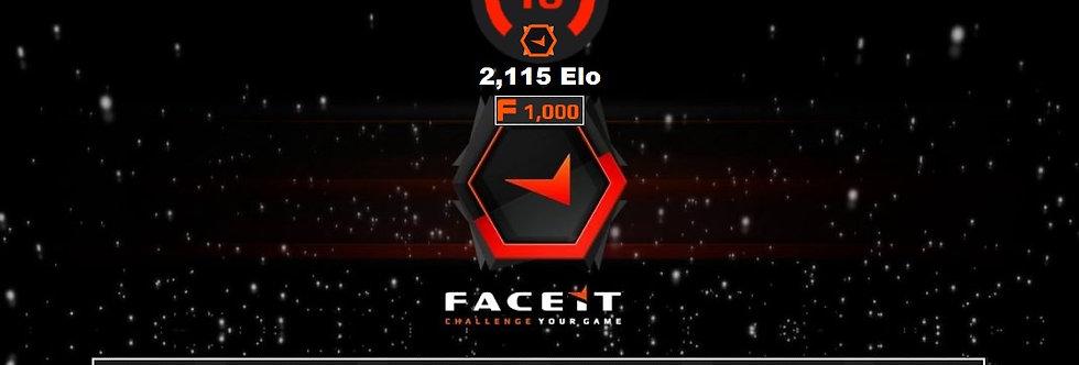 Faceit 2,115 Elo | 1.43 K/D | 1,500 Points | Verified | Instant Delivery