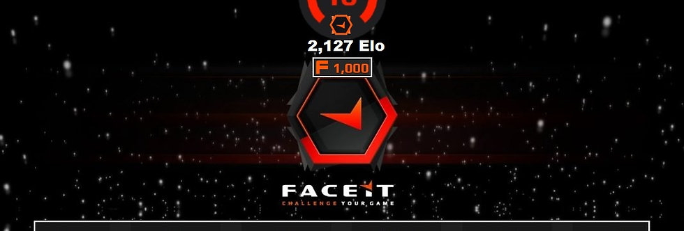 Faceit 2,127 Elo   1.58 K/D   1,500 Points   26 Avg. Kills   Instant Delivery