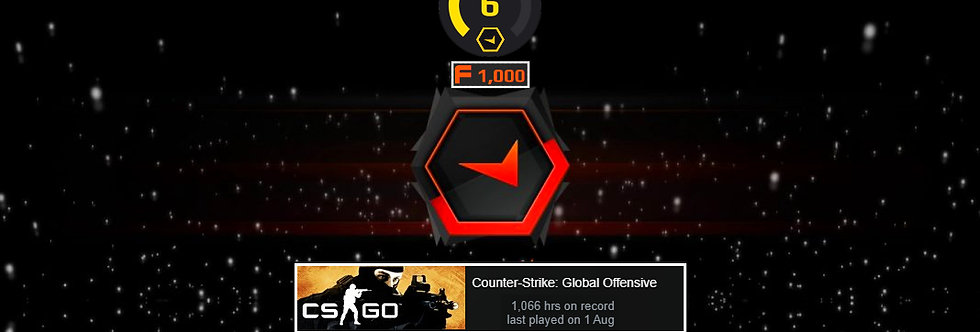 Faceit Level 6 +1 Win    1.68 KD   1,500 Points   1,068 Hours   Instant Delivery