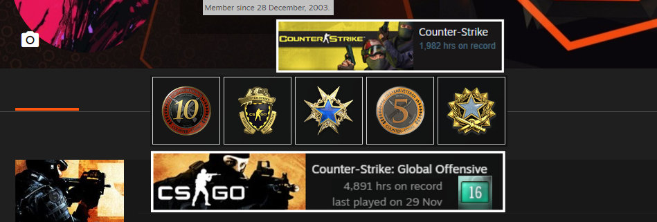 🏆'03 Faceit Level 9 | 2,329 Matches | +5 Medals | 4,891 Hours | Instant