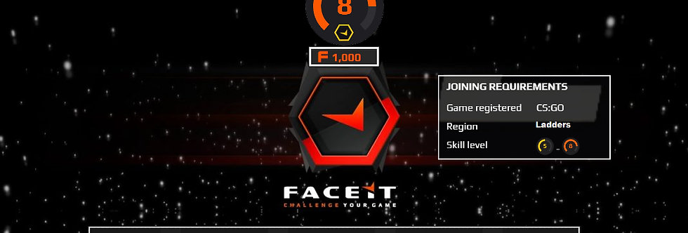 🎁 Faceit Level 8 | 1.40+ K/D | 1,000 Points | < 2 Hour Delivery