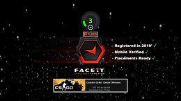 '20 Fresh Faceit Level 3 ✔️ CS:GO 750+ Hours ✔️ Phone Verified ✔️Instant