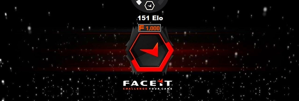 Faceit Level 1 | 151 Elo | 1,500 Points | Verified | Instant Delivery