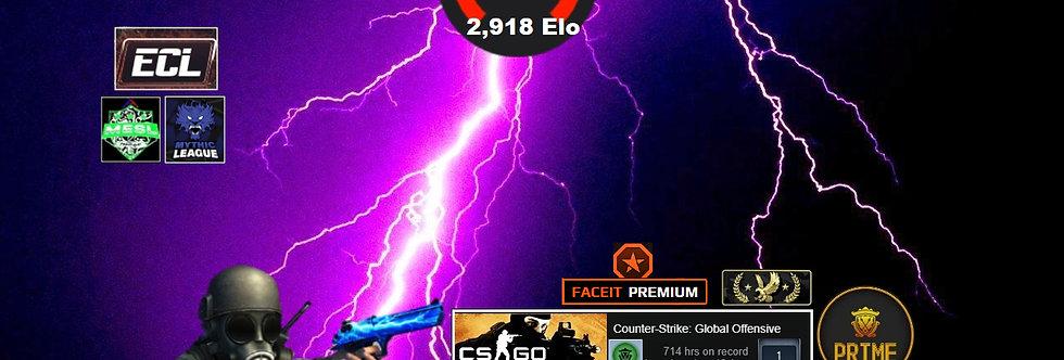 ⚡Faceit Premium 2,918 Elo | 528 Matches | 5,700 Points | LEM Prime | Instant Dl.