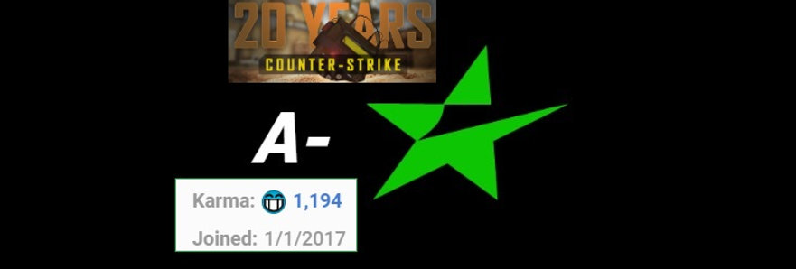 17' ESEA Rank A- | +1,194 Karma | 20-Year Trophy | w/ League History | Instant