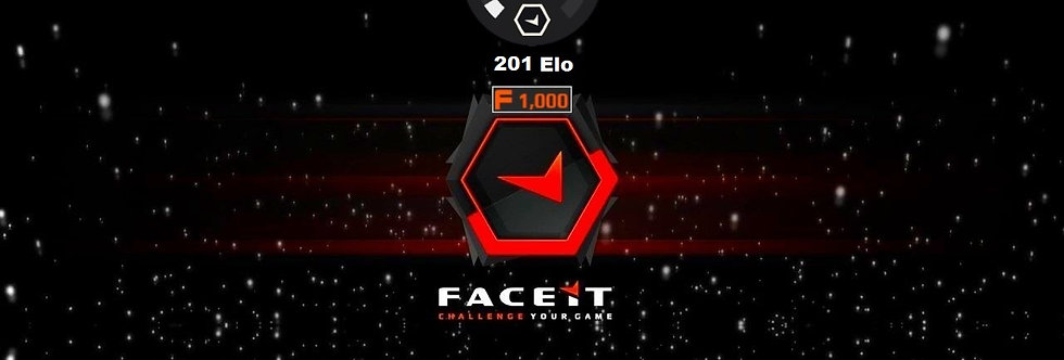 Faceit Level 1 | 200 Elo | 1,000 Points | Verified | Instant Delivery