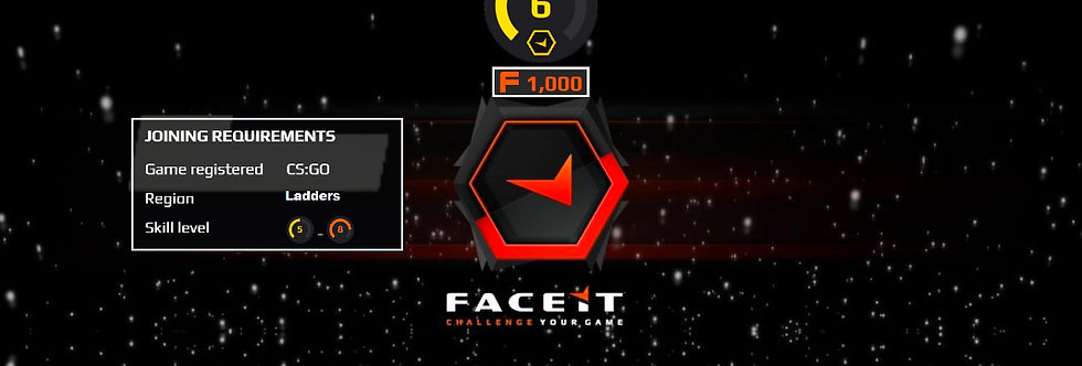 🎁 Faceit Level 6 | 1.30+ K/D | 1,000 Points | < 2 Hour Delivery
