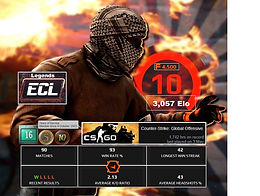 03` Faceit 3,057 Elo | 1,743 Hours | 4,500 Points | 10Y. Veteran Coin | Instant