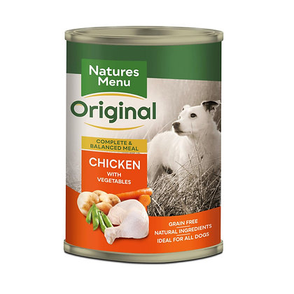 Natures Menu Chicken and Veg 400g can