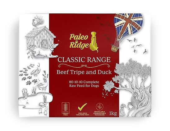Paleo Ridge Beef, Tripe and Duck