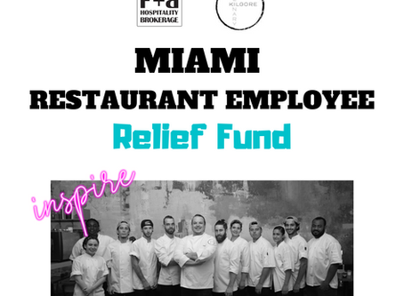 F+B Hospitality Launches Miami Restaurant Employee Relief Fund to Assist Out-Of-Work Locals