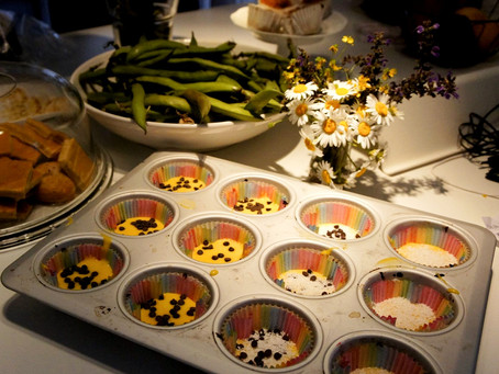 MUFFINS COCCO E NUTELLA.   (per 12 small muffins)