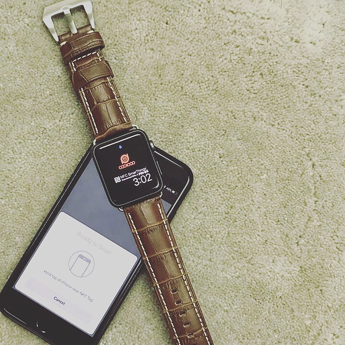Leather NFC Watch Band for Apple Watch.J