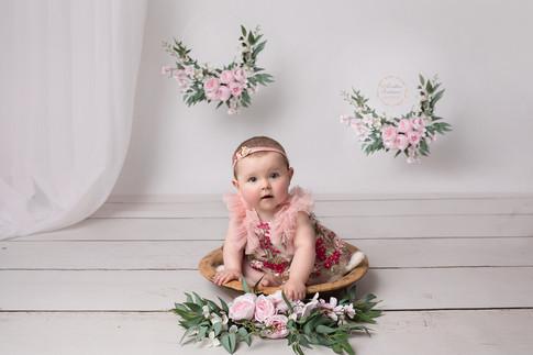 séancephoto bébé 6-12 mois theme fille