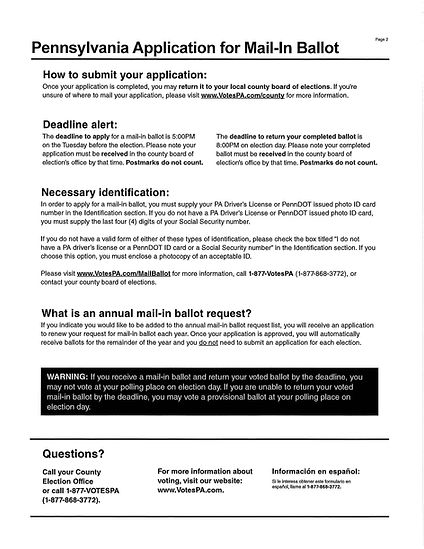 PA Application for Mail-in Ballot_Page_2