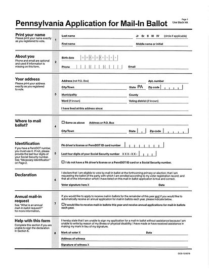 PA Application for Mail-in Ballot_Page_1