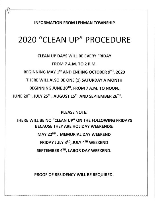2020 Clean up days - Lehman Township.jpg
